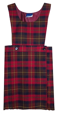 Parklee Half Pleated Tartan Checked Pinafore