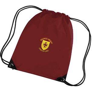 Sacred Heart Hindsford School Burgundy P.E. Bag