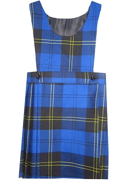 St Michaels Half  Pleated Tartan Checked Pinafaore