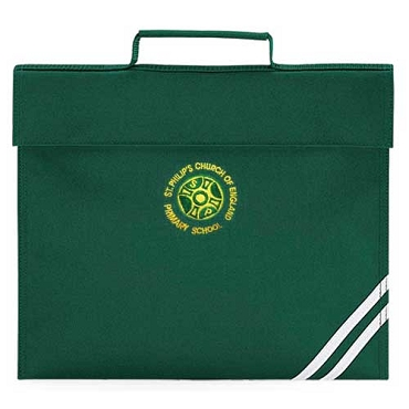 St Philips C of E Primary School Green Small Book Bag