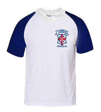 Tyldesley St Georges Primary School P.E. Top - with free initials
