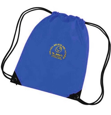St Johns Mosley Common Primary School Royal Blue P.E. Bag