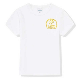St Johns Mosley Common Primary School White P.E , T-Shirt