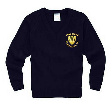 Howe Bridge St Michaels C.E Primary School Navy Blue Year 6 V Neck Jumper