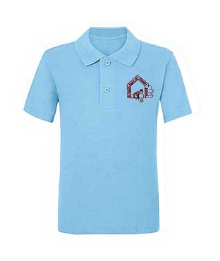 St Pauls Peel Light Blue Polo Shirt