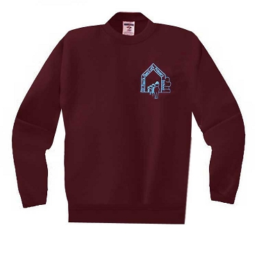 St Pauls Peel C of E Burgundy School Jumper