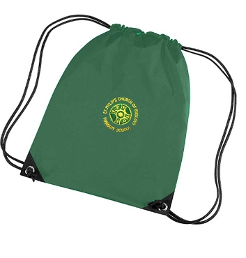 St Philips C of E  Primary School Green P.E. Bag