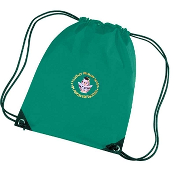 Tyldesley Primary School Green P.E. Bag